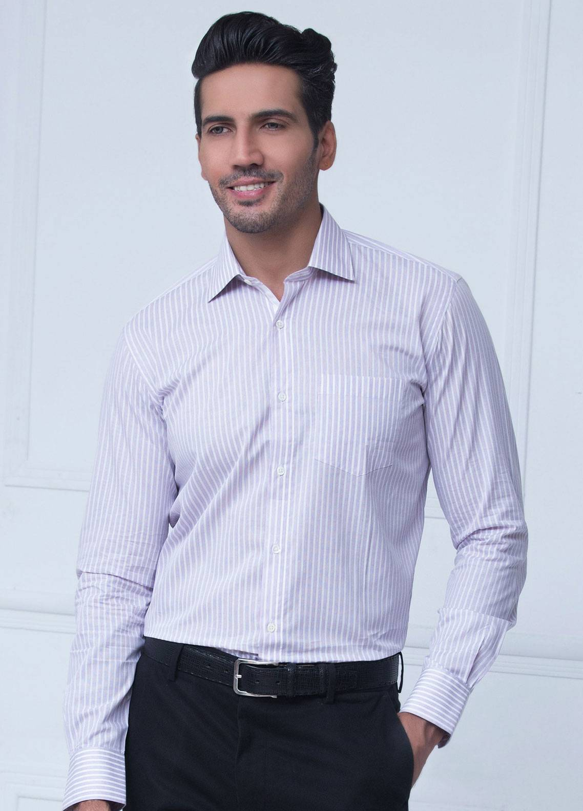 Brumano Cotton Formal Shirts for Men   Purple BRM 206