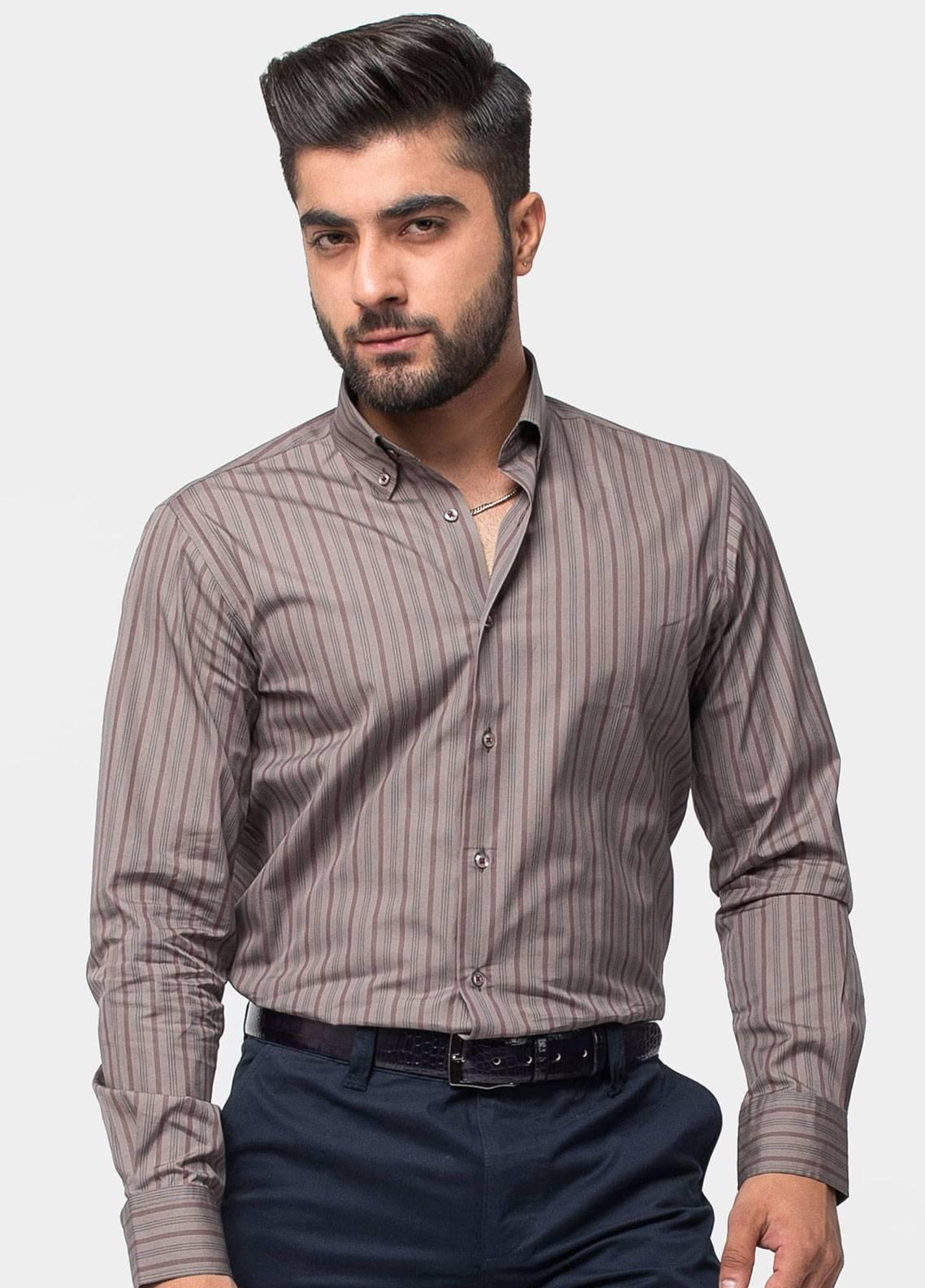 Brumano Cotton Formal Men Shirts   Brown BRM 495