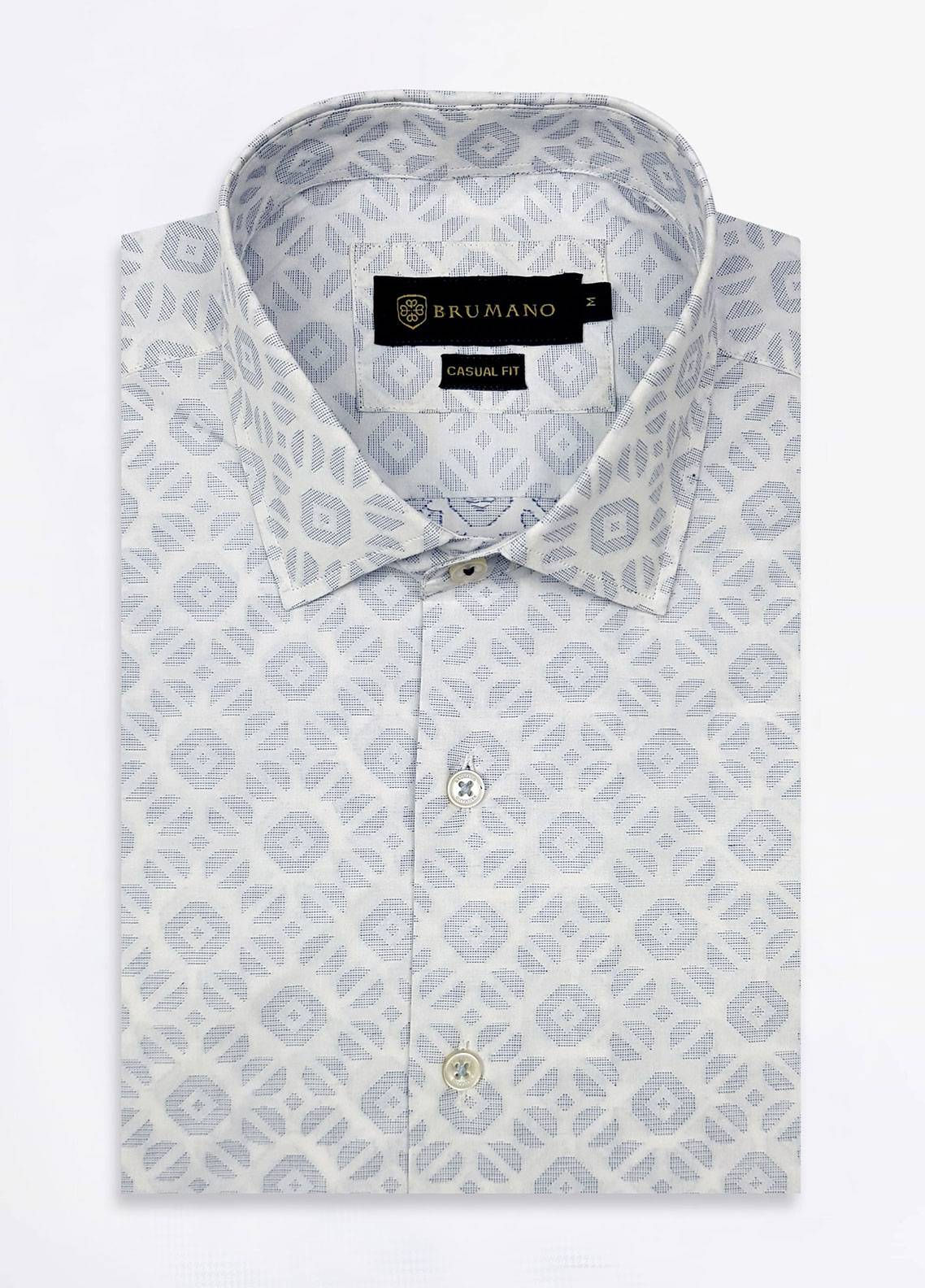 Brumano Cotton Formal Men Shirts - White BRM-520