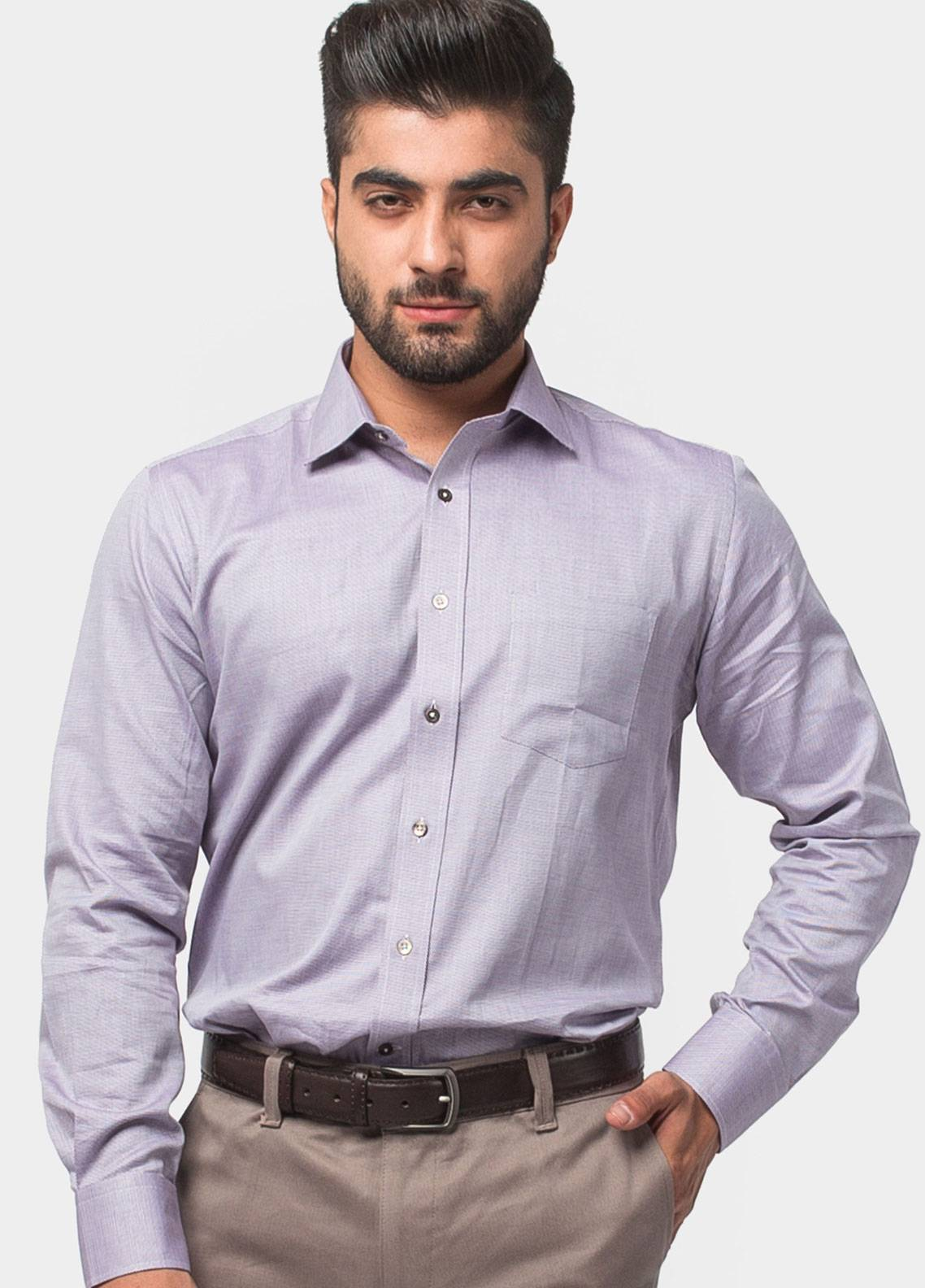Brumano Cotton Formal Men Shirts - Purple BRM-543