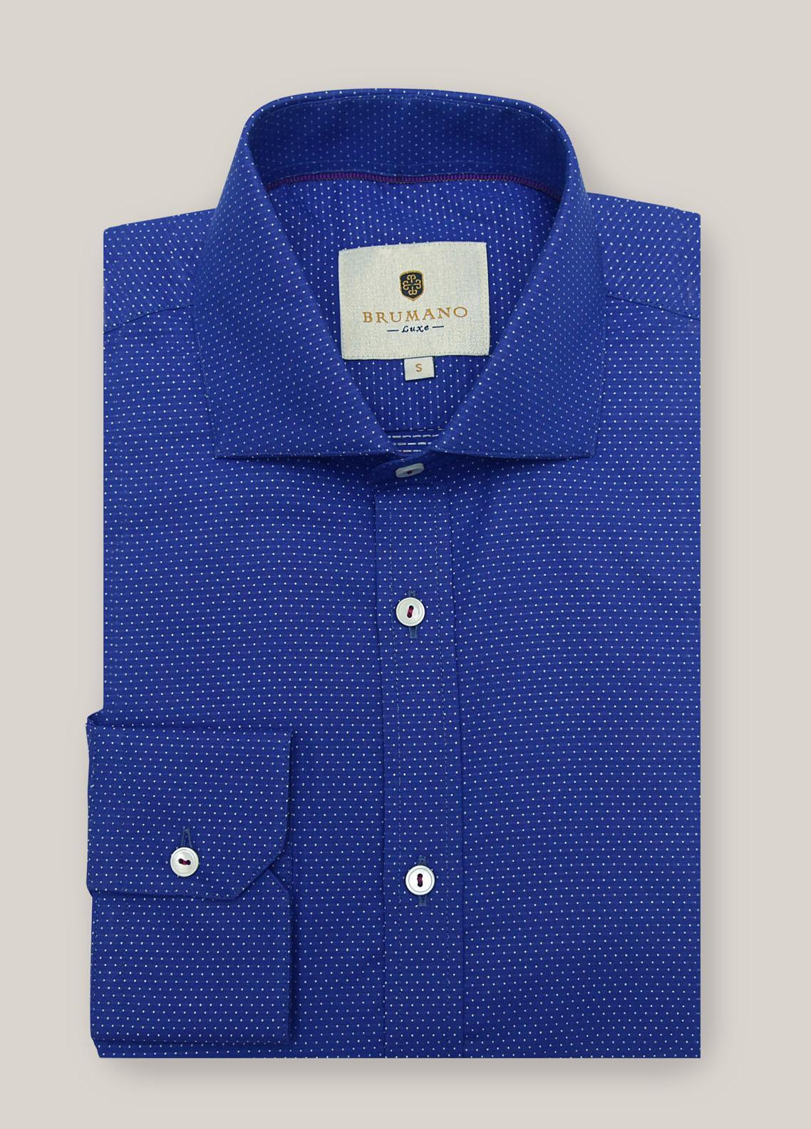 Brumano Cotton Casual Shirts for Men -  1298 Navy Blue