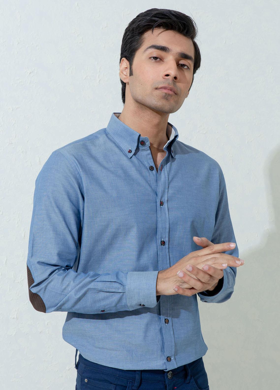 Brumano Cotton Casual Men Shirts -  BM21SH Blue Light Weight