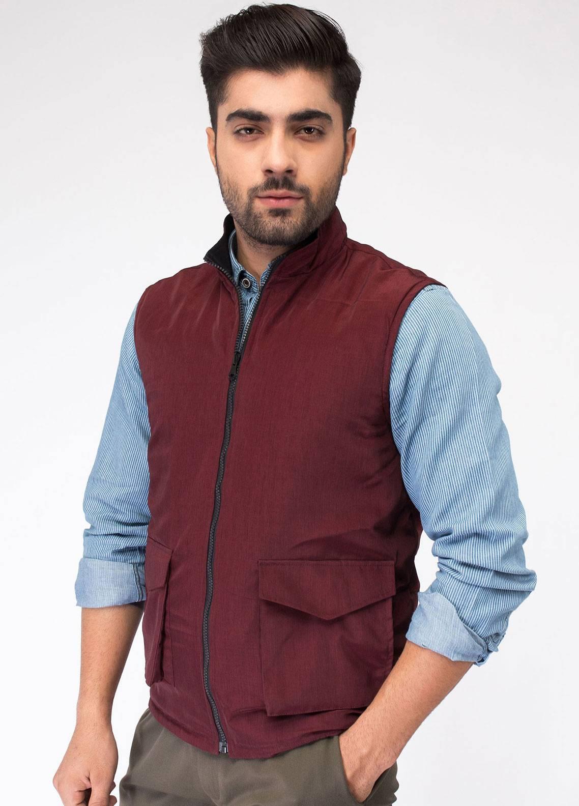 Brumano Polyester Sleeveless Men Reversible Jackets - Black BRM-13-1001