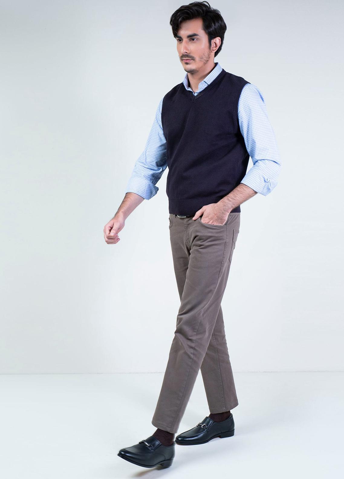 Brumano Cotton Sleeveless Men V-Neck Sweaters -  SL-013