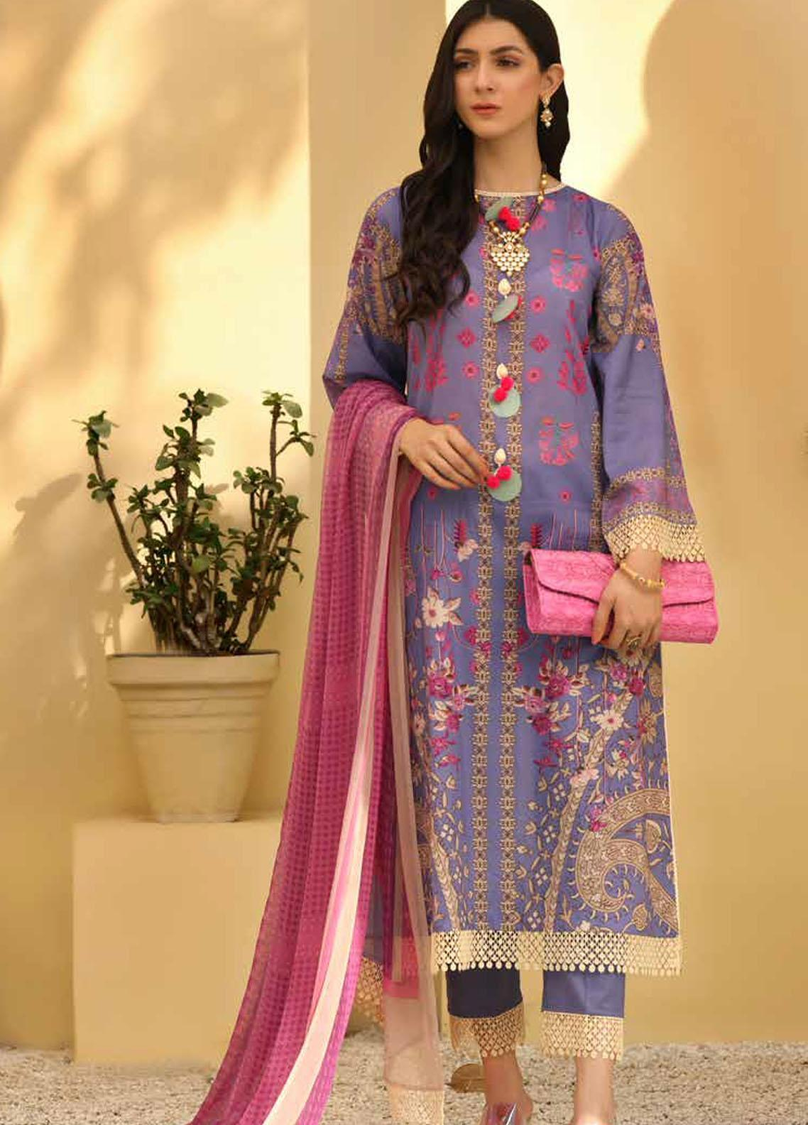 Charizma Printed Lawn Suits Unstitched 3 Piece CRZ21CP-5 CP-57 - Summer Collection