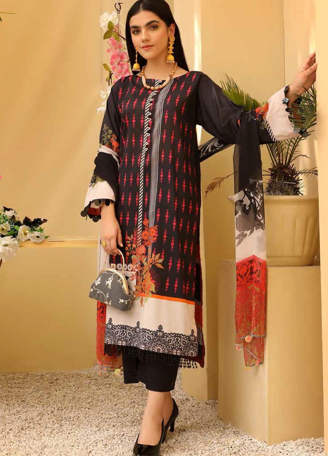 Charizma Printed Lawn Suits Unstitched 3 Piece CRZ21CP-5 CP-59 - Summer Collection