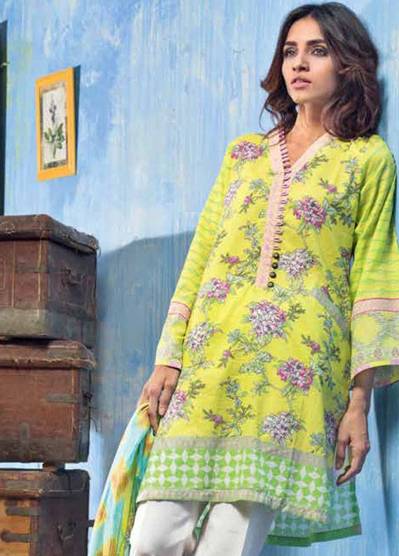 Gul Ahmed Embroidered Lawn Unstitched 3 Piece Suit GA18L CL-261B - Essential Collection