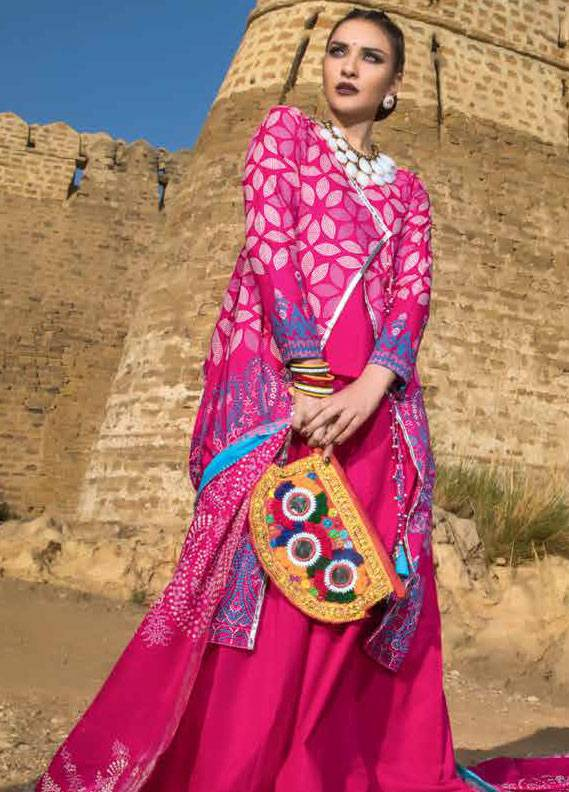 Gul Ahmed Printed Lawn Unstitched 3 Piece Suit GA18L CL-265A - Essential Collection
