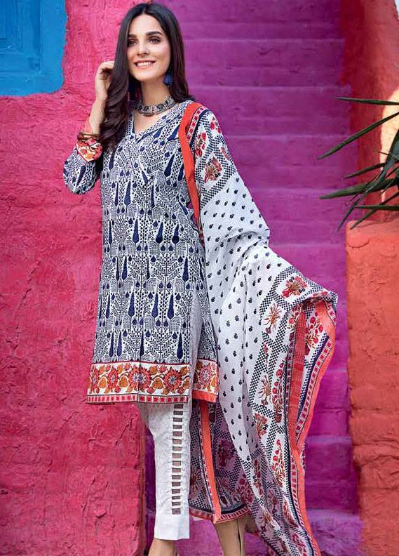 Gul Ahmed Printed Lawn Unstitched 3 Piece Suit GA18L CL-333A - Essential Collection
