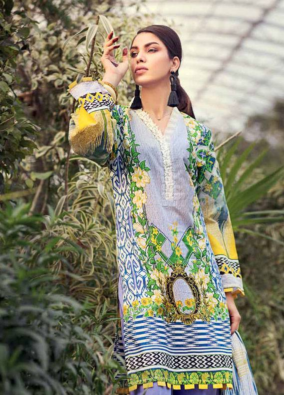 Gul Ahmed Printed Lawn Unstitched 3 Piece Suit GA18L CL-336A - Essential Collection