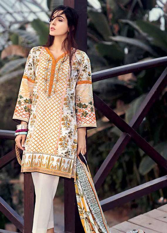 Gul Ahmed Embroidered Lawn Unstitched 3 Piece Suit GA18L CL-340A - Essential Collection