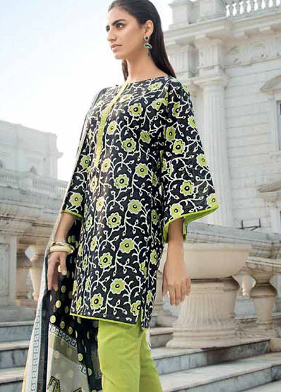 Gul Ahmed Printed Lawn Unstitched 3 Piece Suit GA18L CL-350A - Essential Collection