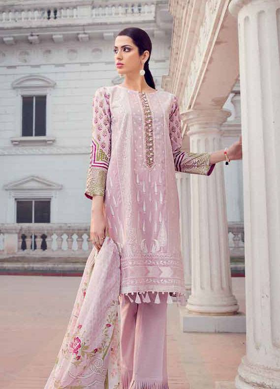 Gul Ahmed Embroidered Lawn Unstitched 3 Piece Suit GA18L CLS-321 - Essential Collection