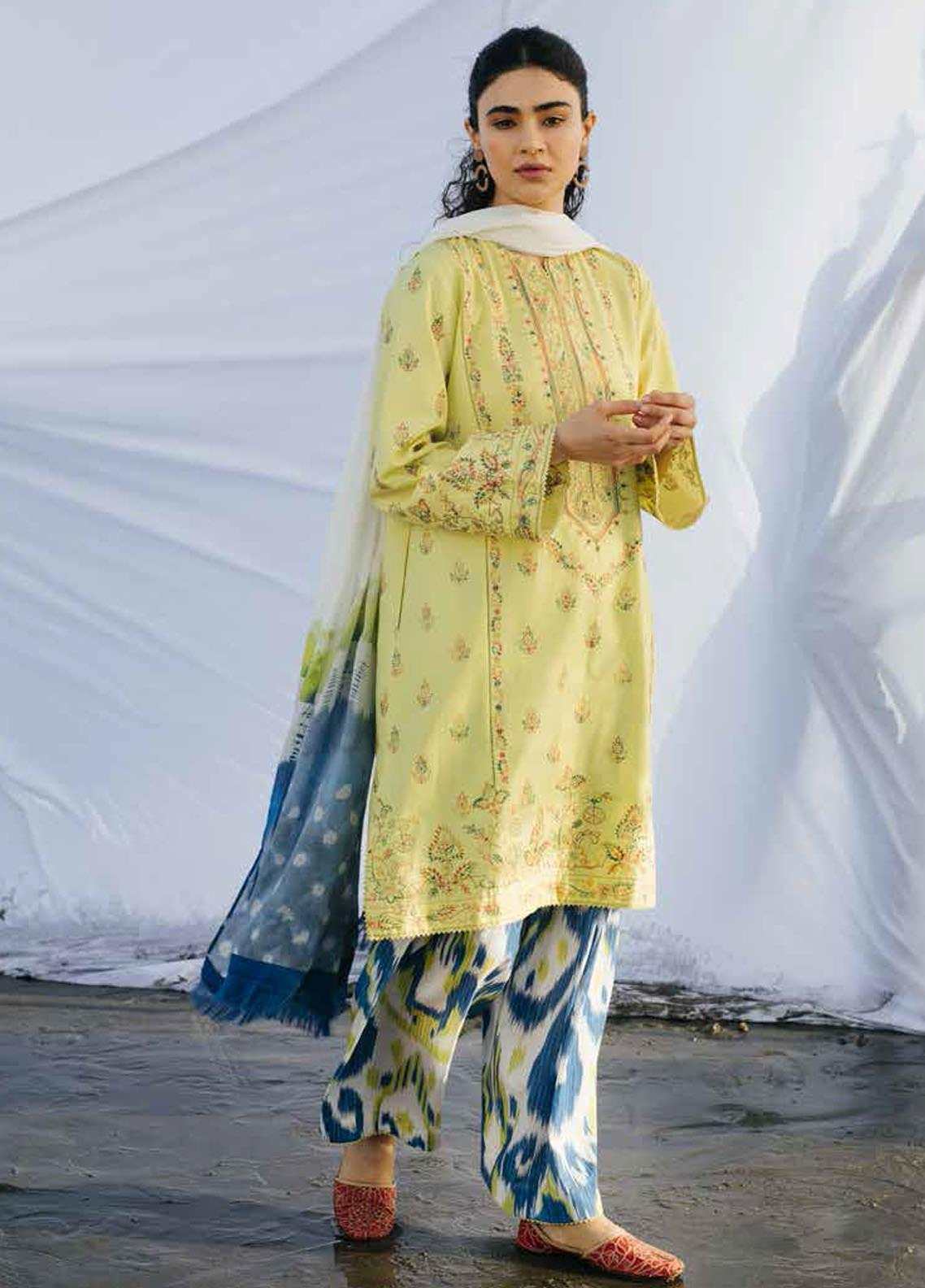 Coco By Zara Shahjahan Embroidered Lawn Suits Unstitched 3 Piece CZS20L 10-A - Spring/Summer Collection