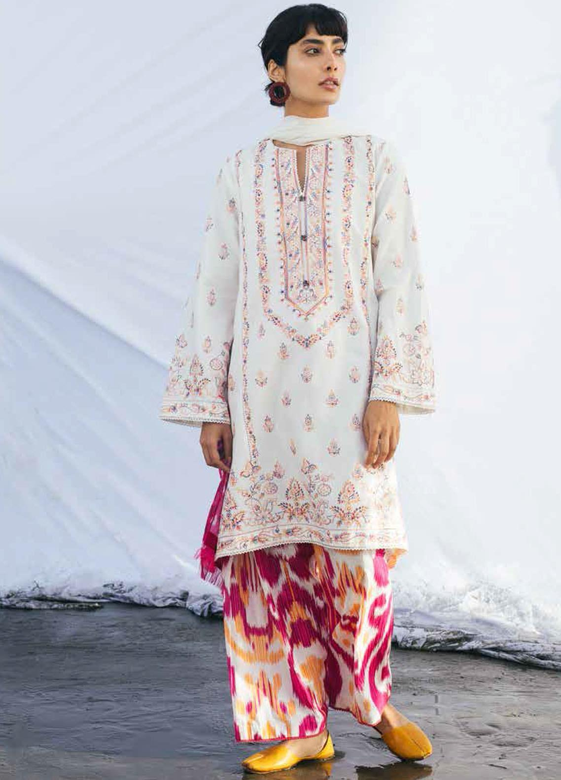 Coco By Zara Shahjahan Embroidered Lawn Suits Unstitched 3 Piece CZS20L 10-B - Spring/Summer Collection