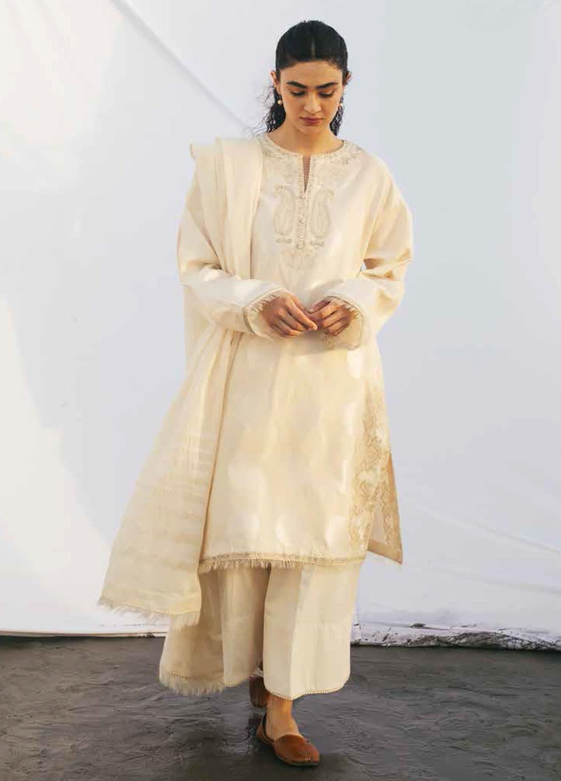 Coco By Zara Shahjahan Embroidered Lawn Suits Unstitched 3 Piece CZS20L 5-B - Spring/Summer Collection