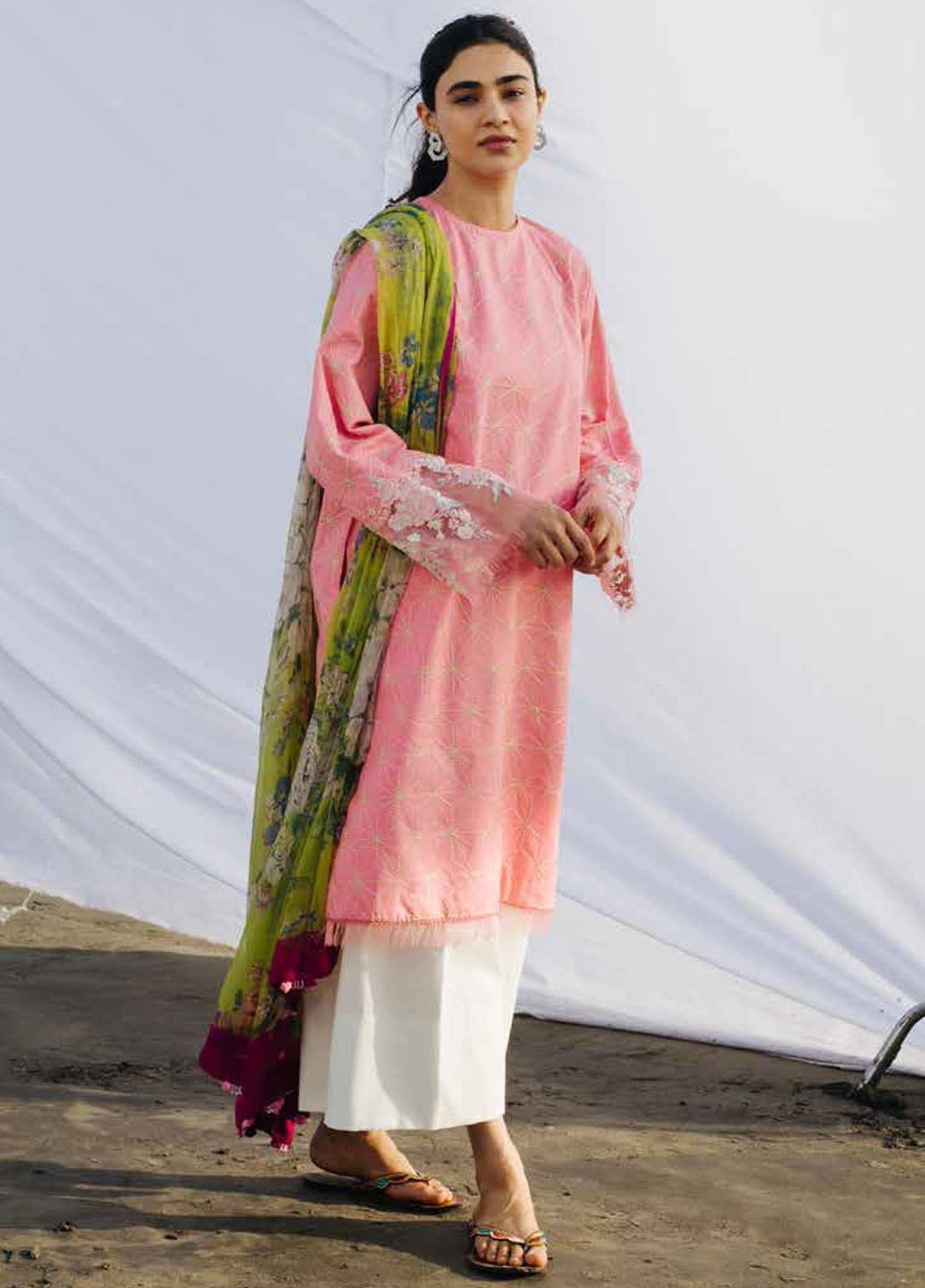 Coco By Zara Shahjahan Embroidered Lawn Suits Unstitched 3 Piece CZS20L 6-B - Spring/Summer Collection