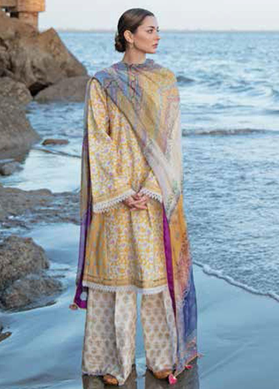 Coco By Zara Shahjahan Embroidered Lawn Suits Unstitched 3 Piece CZS20L 9-B - Spring/Summer Collection