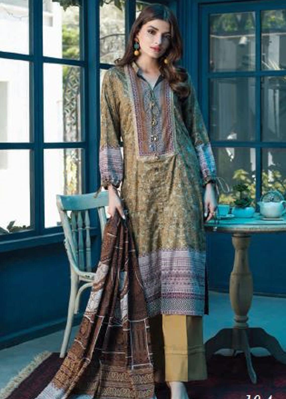 Colors by Al Zohaib Printed Lawn Unstitched 3 Piece Suit AZ20CL 10-A - Spring / Summer Collection