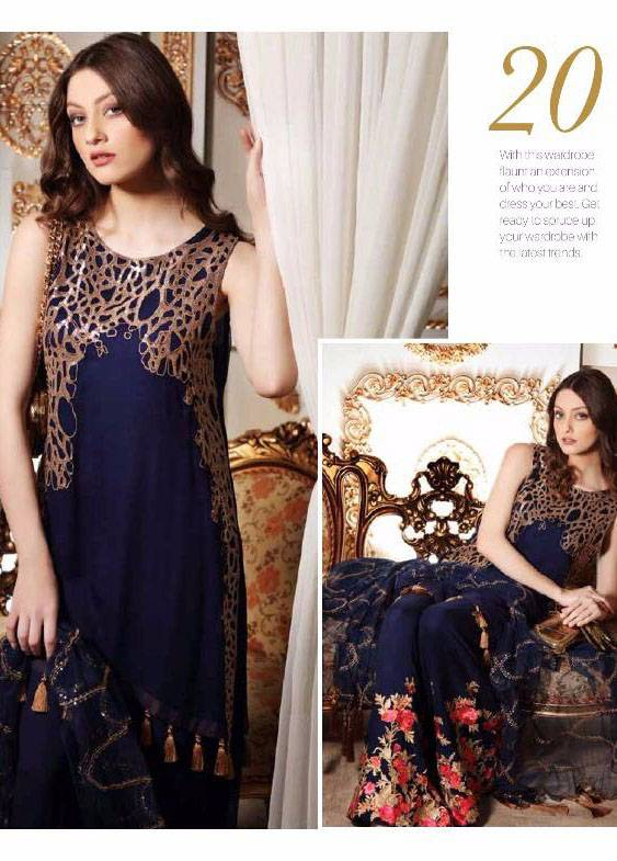 Charizma Embroidered Chiffon Unstitched 3 Piece Suit CR17C2 20