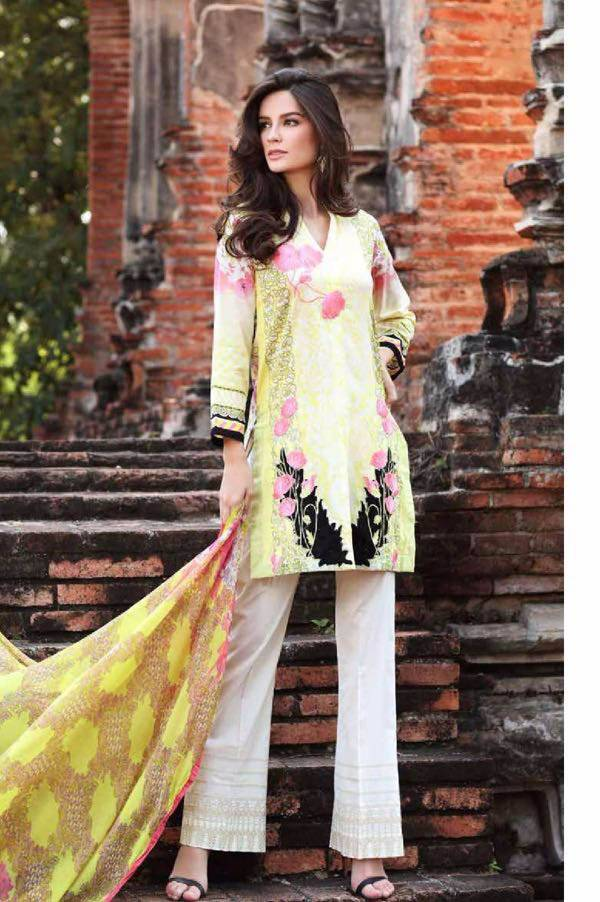 Charizma Embroidered Lawn Unstitched 3 Piece Suit CR17L 1B