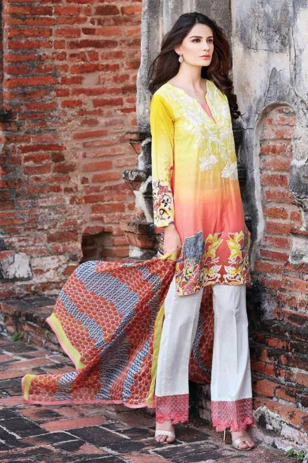 Charizma Embroidered Lawn Unstitched 3 Piece Suit CR17L 3B