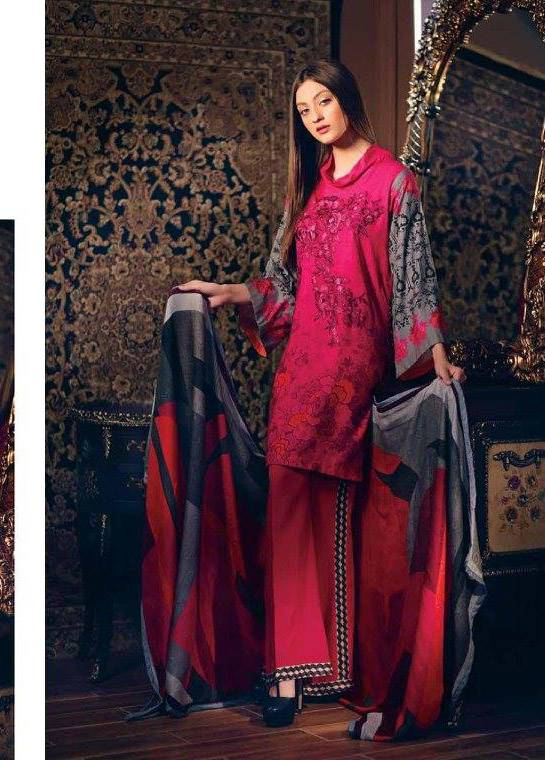 Charizma Embroidered Linen Unstitched 3 Piece Suit CR17W1 18