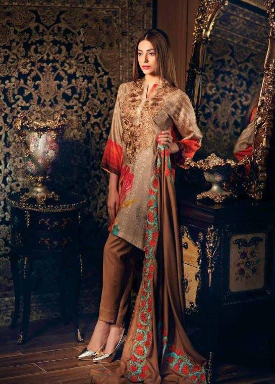 Charizma Embroidered Linen Unstitched 3 Piece Suit CR17W1 19
