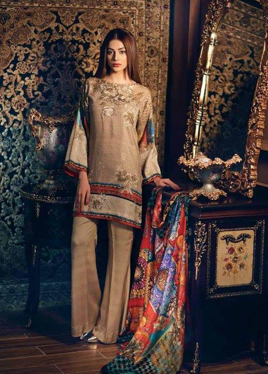 Charizma Embroidered Linen Unstitched 3 Piece Suit CR17W1 22