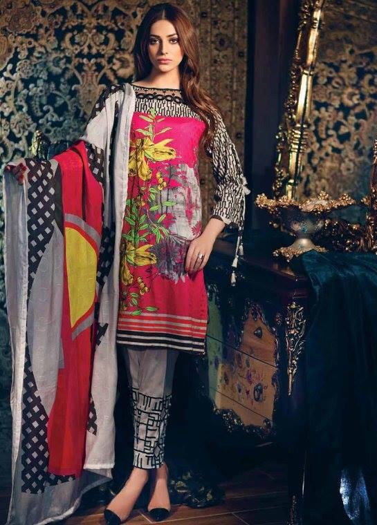 Charizma Embroidered Linen Unstitched 3 Piece Suit CR17W1 24