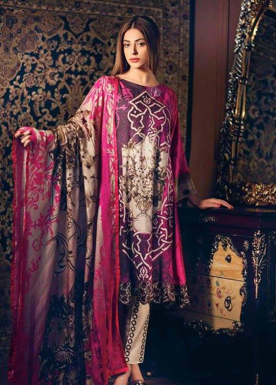 Charizma Embroidered Linen Unstitched 3 Piece Suit CR17W1 27