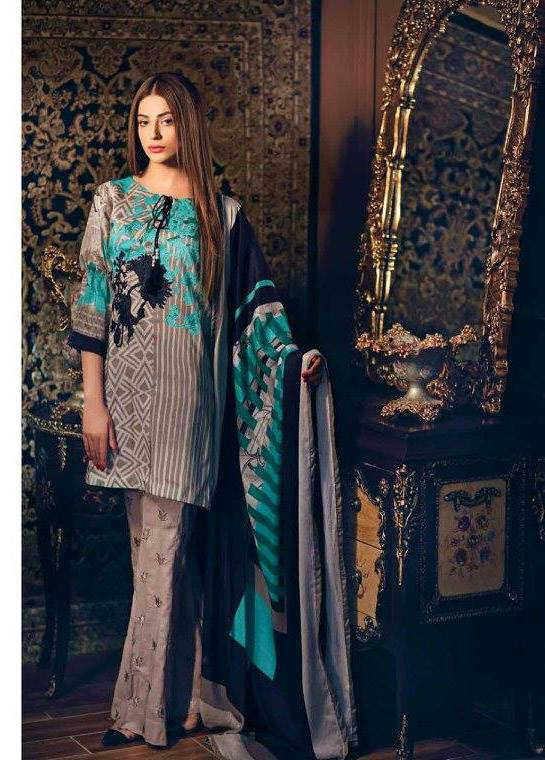 Charizma Embroidered Linen Unstitched 3 Piece Suit CR17W1 29