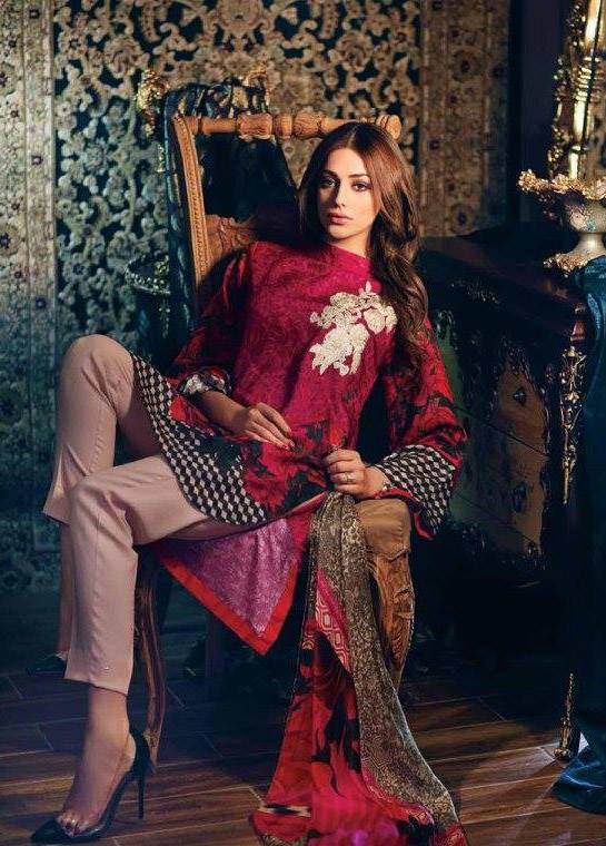 Charizma Embroidered Linen Unstitched 3 Piece Suit CR17W1 30