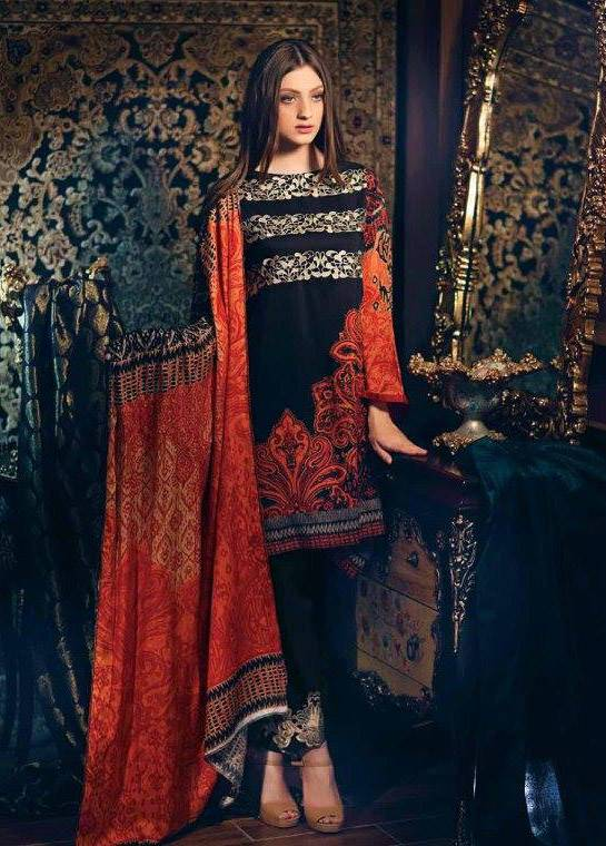 Charizma Embroidered Linen Unstitched 3 Piece Suit CR17W1 31