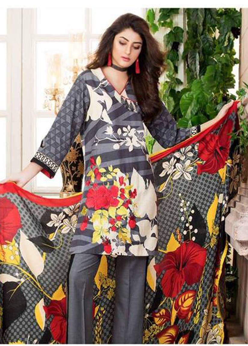 Charizma Embroidered Linen Unstitched 3 Piece Suit CR17W2 10A