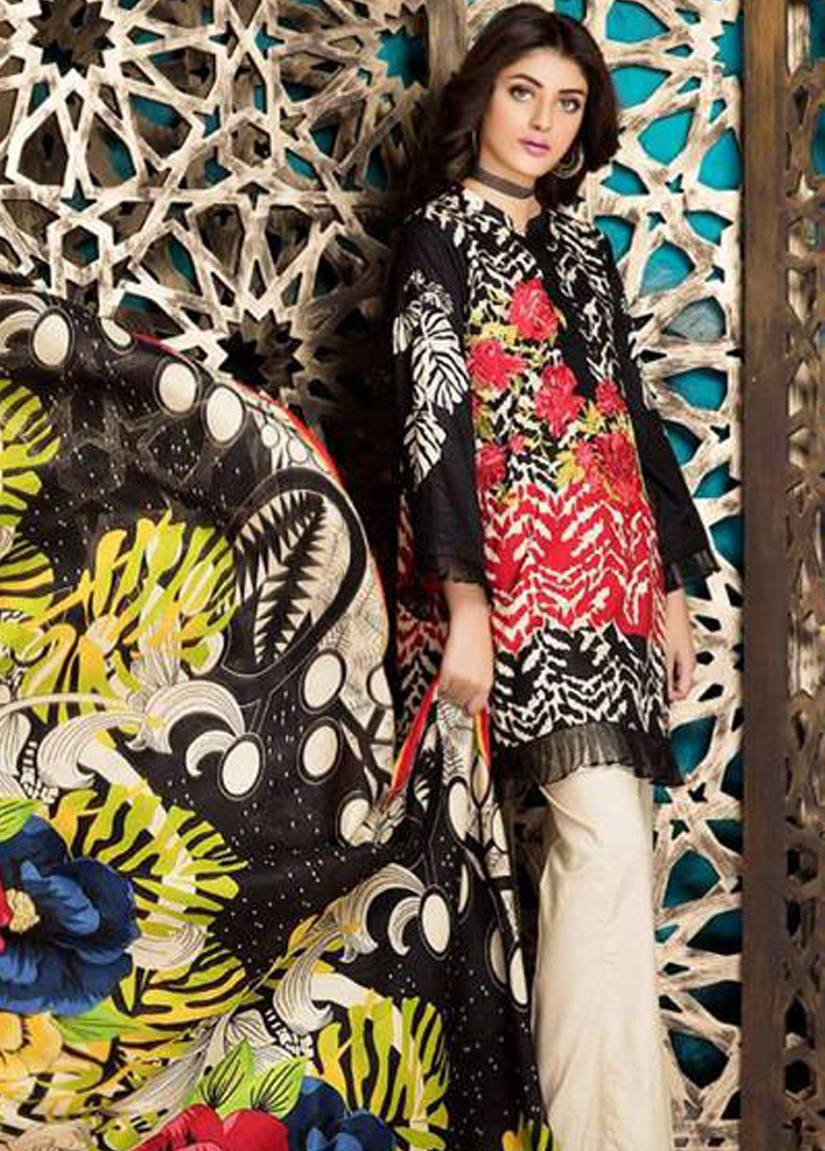 Charizma Embroidered Linen Unstitched 3 Piece Suit CR17W2 1A