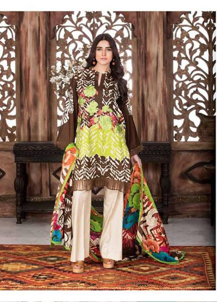 Charizma Embroidered Linen Unstitched 3 Piece Suit CR17W2 1B