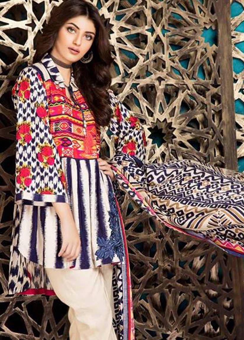 Charizma Embroidered Linen Unstitched 3 Piece Suit CR17W2 2A