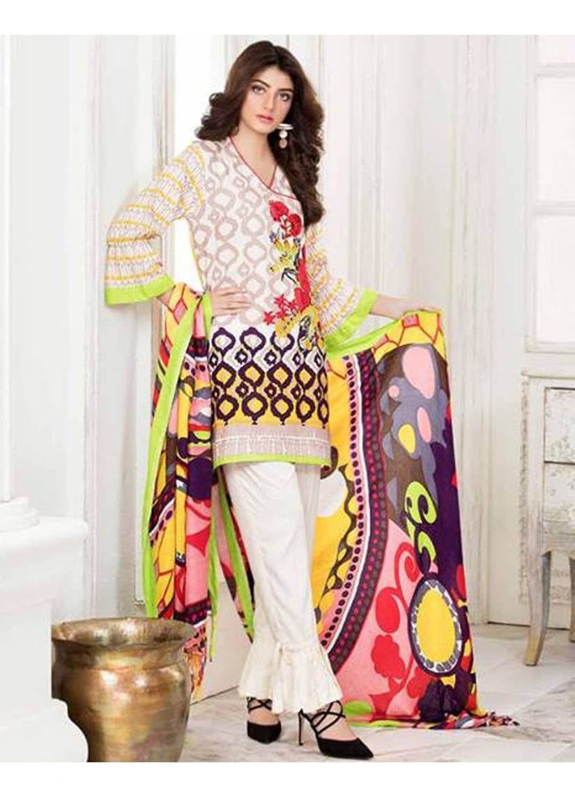 Charizma Embroidered Linen Unstitched 3 Piece Suit CR17W2 5B