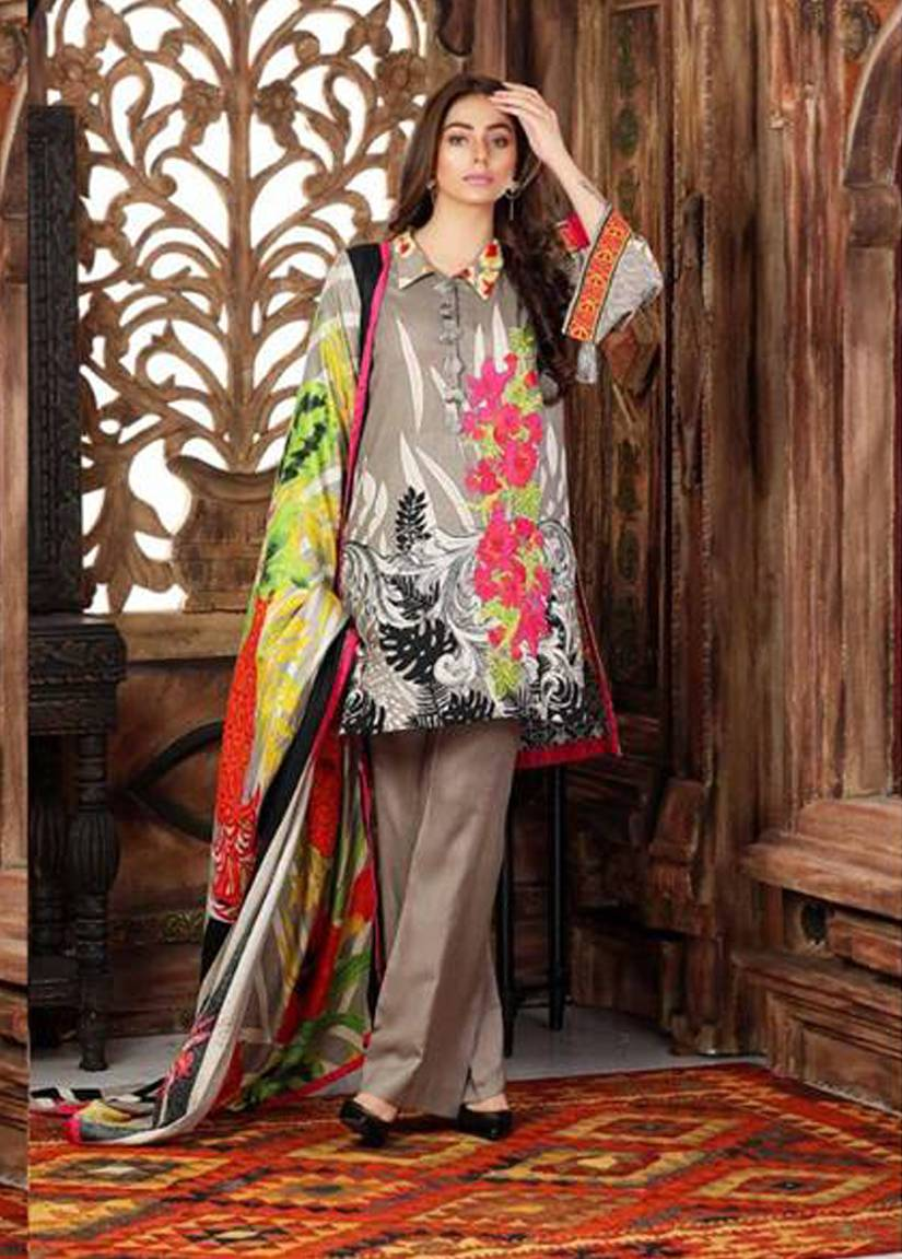 Charizma Embroidered Linen Unstitched 3 Piece Suit CR17W2 6