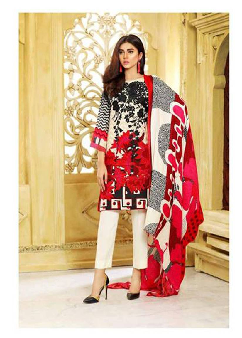 Charizma Embroidered Linen Unstitched 3 Piece Suit CR17W2 7