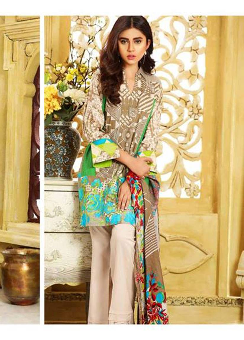 Charizma Embroidered Linen Unstitched 3 Piece Suit CR17W2 8B