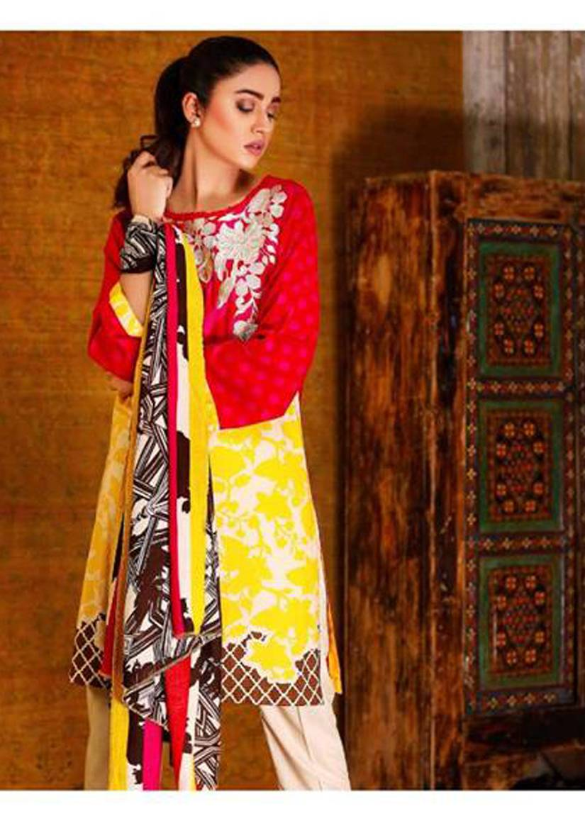 Charizma Embroidered Linen Unstitched 3 Piece Suit CR17W2 9A