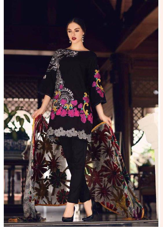 Charizma Embroidered Linen Unstitched 3 Piece Suit CR17W3 04