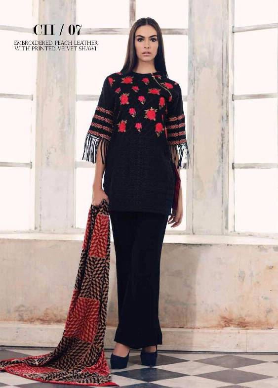 Charizma Embroidered Linen Unstitched 3 Piece Suit CR17W3 07