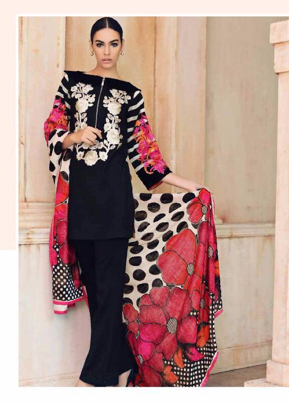 Charizma Embroidered Linen Unstitched 3 Piece Suit CR17W3 1A