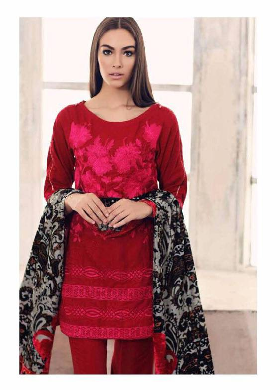 Charizma Embroidered Linen Unstitched 3 Piece Suit CR17W3 3A
