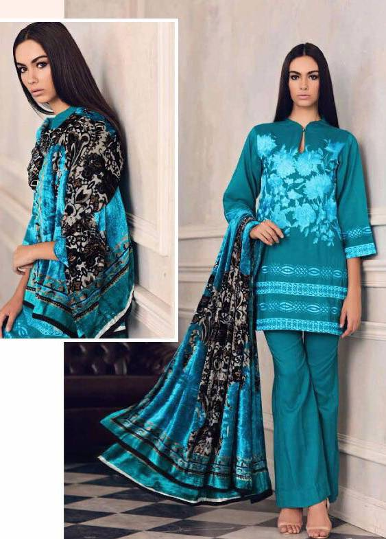 Charizma Embroidered Linen Unstitched 3 Piece Suit CR17W3 3B