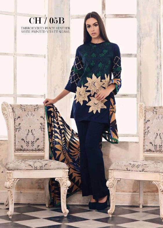 Charizma Embroidered Linen Unstitched 3 Piece Suit CR17W3 5B