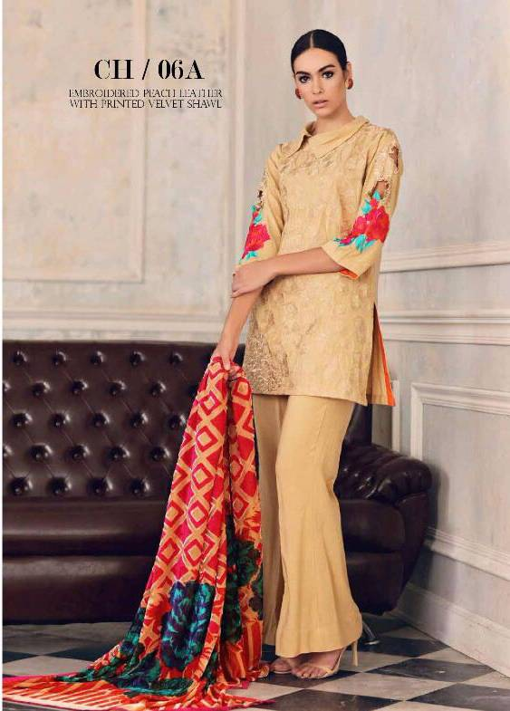 Charizma Embroidered Linen Unstitched 3 Piece Suit CR17W3 6A